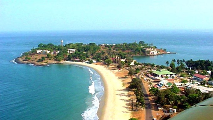 A view of some of the beach near Freetown.
