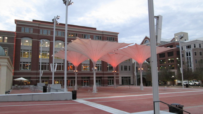 Umbrellas in Sundance Square.