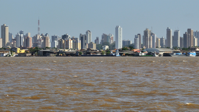 Panorama of the Belem skyline.