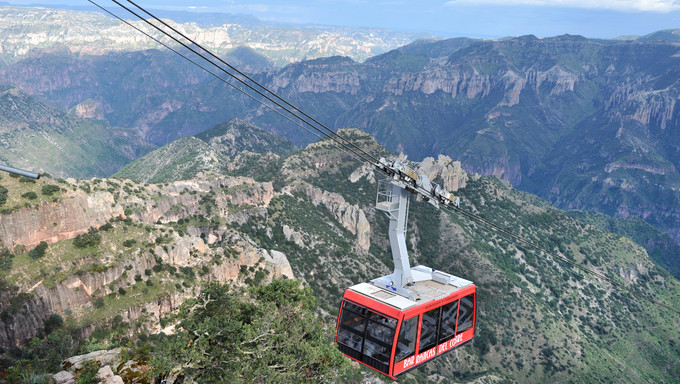 Teleférico, Sierra de Chihuahua