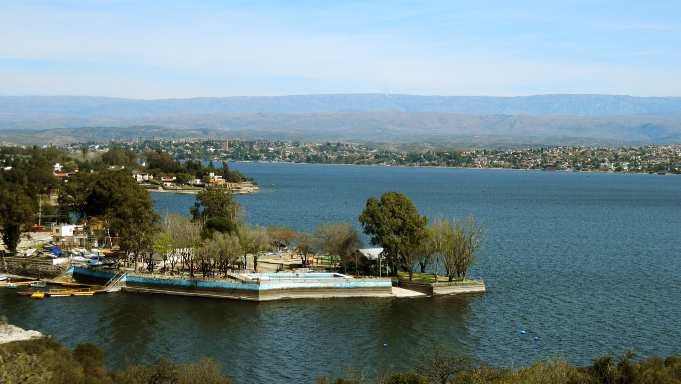 View of San Roque lake, Cordoba, Argentina