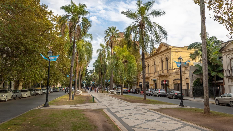 Rosario, Argentina - May 18, 2018: Orono Boulevard - Rosario, Santa Fe, Argentina