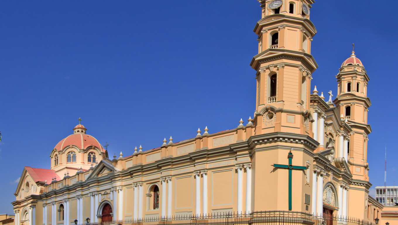 Main Cathedral in the city of Piura, in Peru, South America