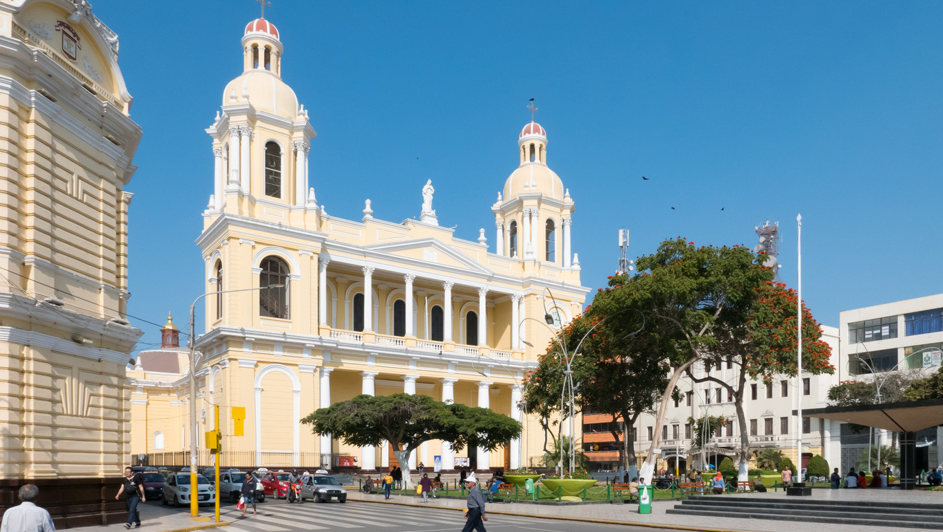 July 2018 Santa Maria Church in the historic center of Chiclayo is even a museum not only a religiouse site.