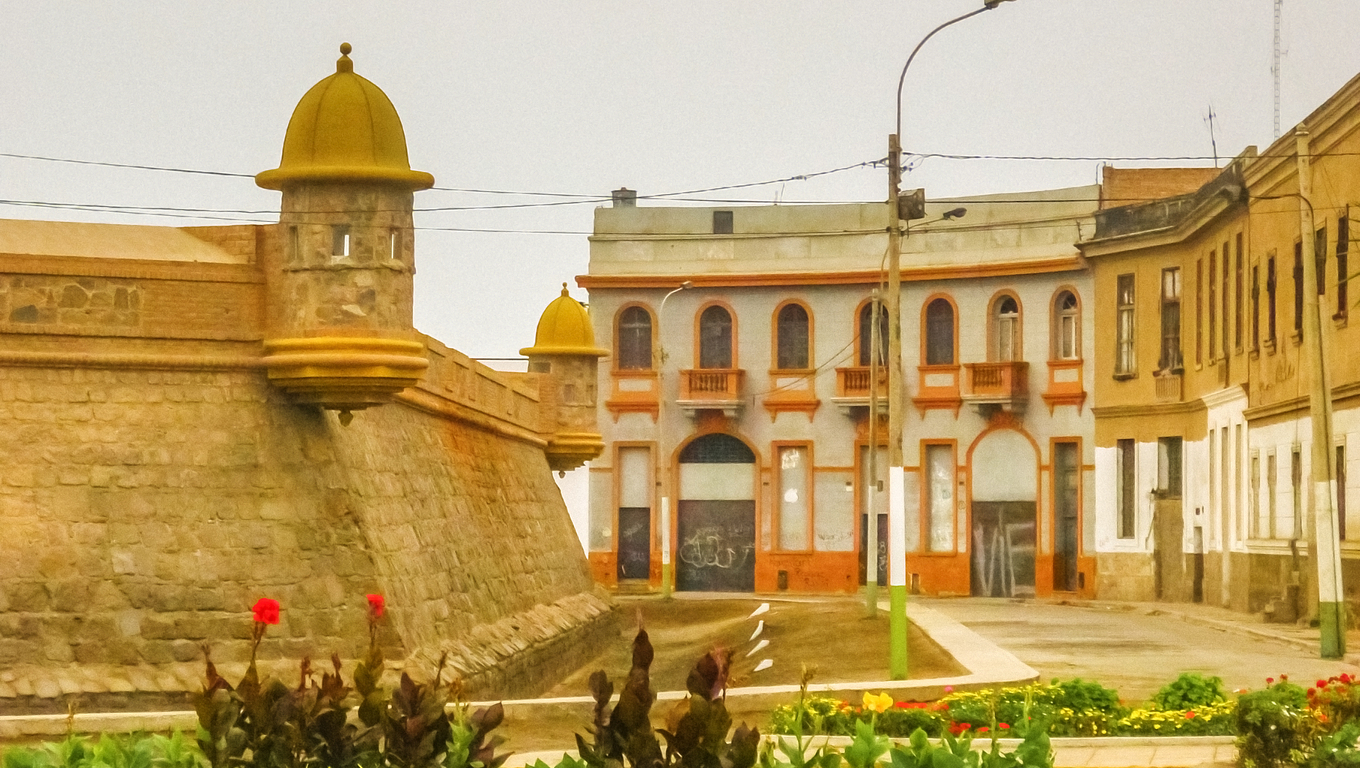 The Real Felipe Fortress is a military building built in the eighteenth century in the bay of Callao, Peru to defend the port against attacks by pirates and privateers.  It is one of the few works of military architecture that exist in Peru and is the largest built by the Spanish in America.