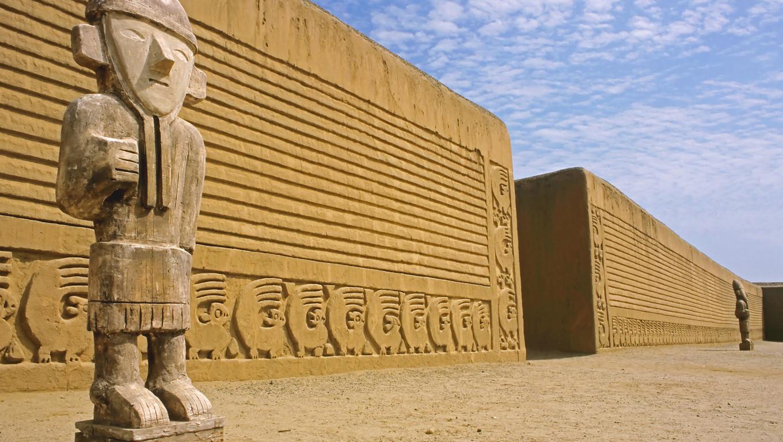 This image was shot near Trujillo, Peru at the Inca ruins of Chan Chan.