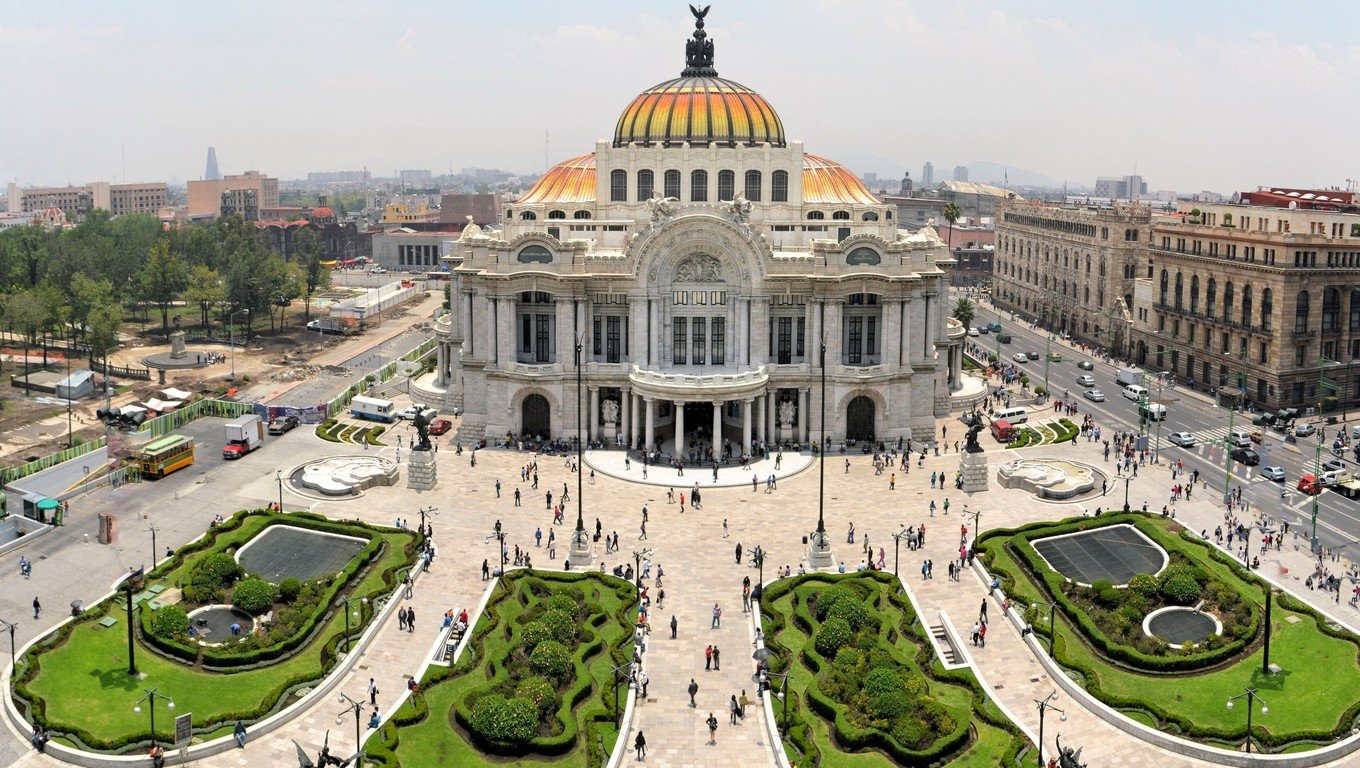 The Fine Arts Palace Museum called Palacio de Bellas Artes in Mexico City, Mexico.