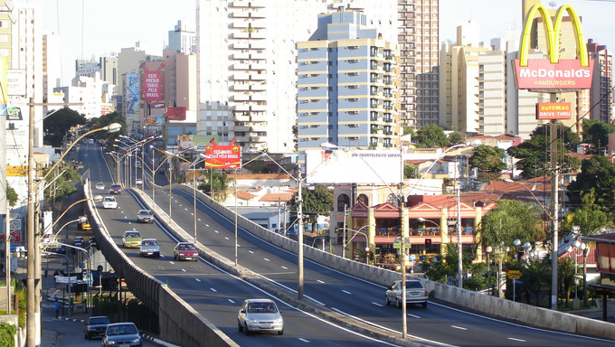A view from the streets of Campinas.