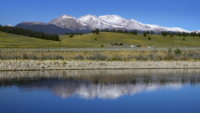 A view of Mt. Elbert, the highest peak in all of Colorado.
