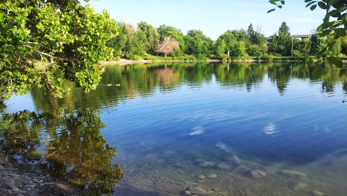 Beautiful reflection in the Kennewick Pond.