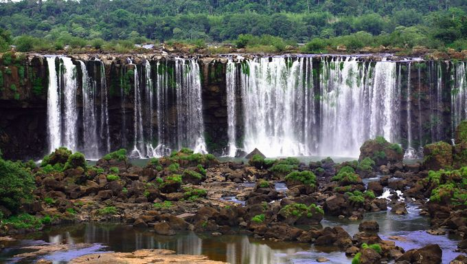 Amazing waterfall in the Cuiaba, Brazil jungle.