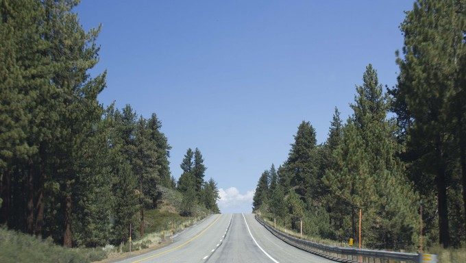 A highway near Mammoth Lakes.