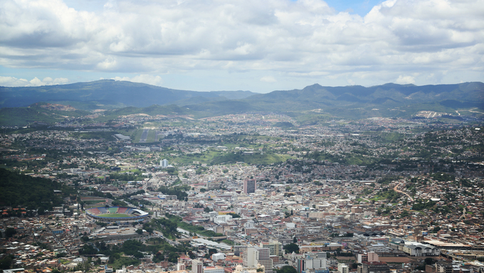 A grand view over Tegucigalpa