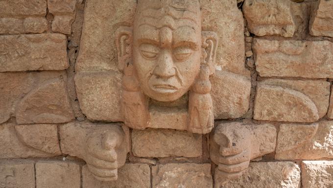 Maya Head - Copan Ruins