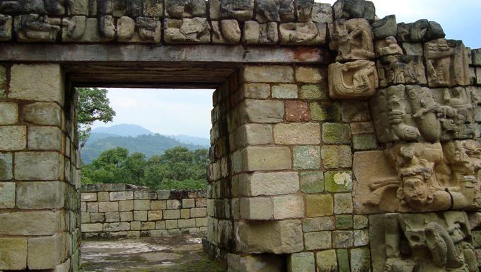 ancient mayan ruins - copan ruinas or copan ruins in Honduras