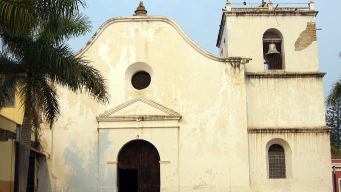 Facade of San Fransisco church in Comayagua, Honduras