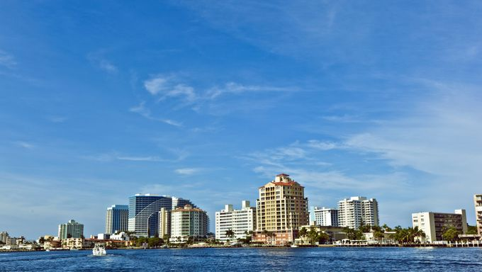 Fort Lauderdale skyline, Florida.