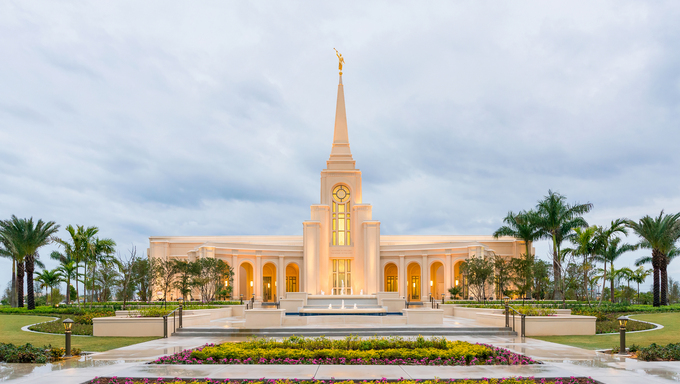 The Ft. Lauderdale LDS Temple.