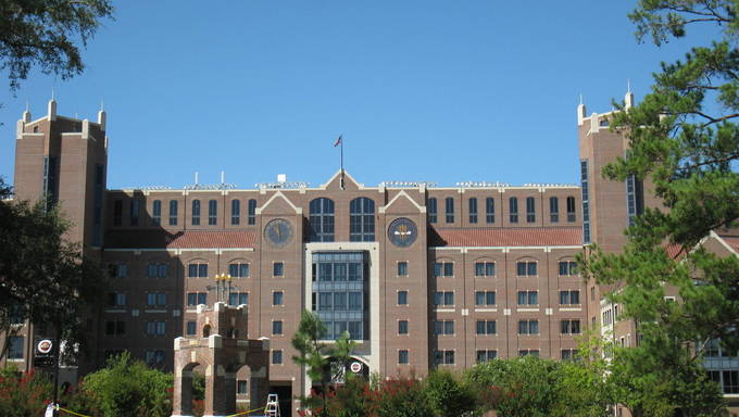 Doak Campbell Stadium At Florida State University.