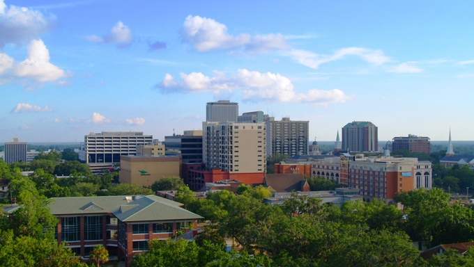 The gorgeous skyline of Tallahassee, Florida.