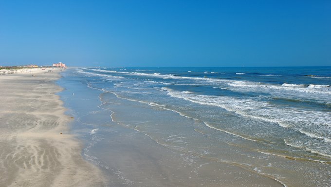 A beach on Padre Island.