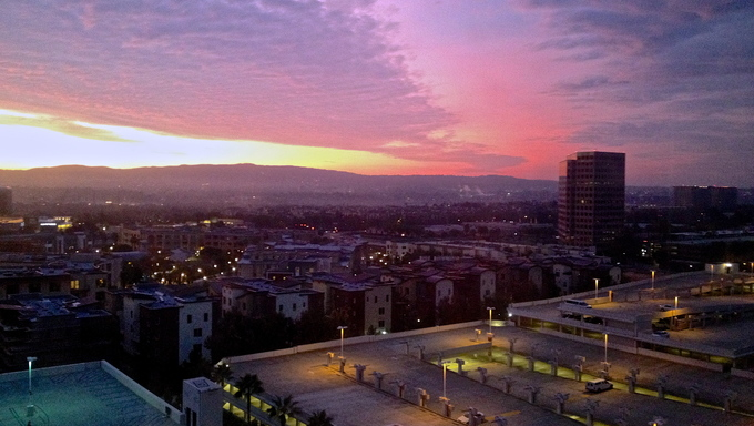 Irvine, California at sunrise.