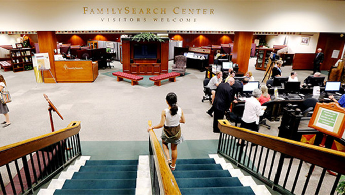 Family and Church History Headquarters Mission Friday, Sept. 4, 2015, at Temple Square in Salt Lake City.