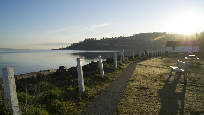 Lighthouse Beach in Federal Way, Washington.