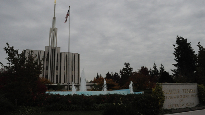 The LDS Temple in Seattle, Washington.