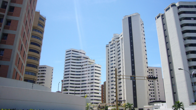 Business buildings in Valencia.