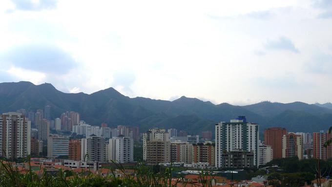 The skyline of the buildings in Valencia, Venezuela.