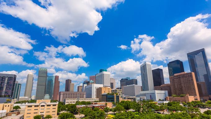 Houston skyline, taken from Southern Houston.