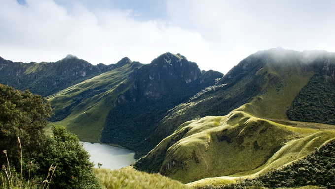 Mojanda Lake in Ecuador