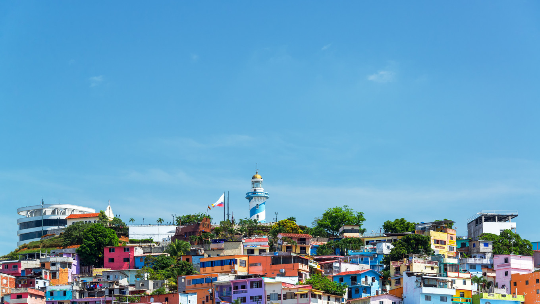 Santa Ana hill view in Guayaquil, Ecuador