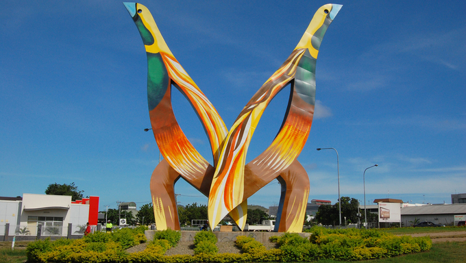 "Monument named ""Birds"", Port Moresby, Papua New Guinea"