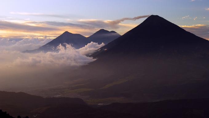 Volcan Acatenango and Volcan Fuego, Guatemala
