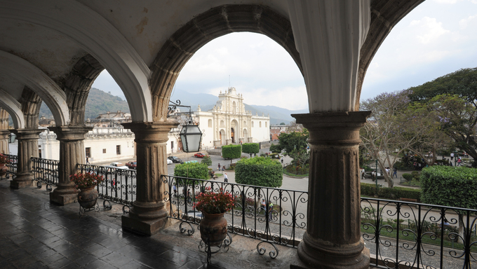 The cathedral of Antigua on Guatemala