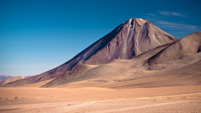 volcanoes Licancabur and Juriques on the border between Chile and Bolivia