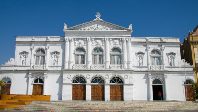 Opera House (Teatro Municipal) on Plaza Prat in the city of Iquique in the Atacama desert region in Norte Grande, Chile.