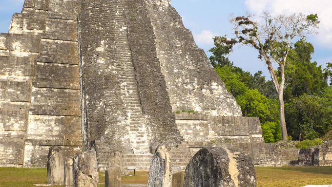 Temple 1 at Tikal National Park, Guatemala