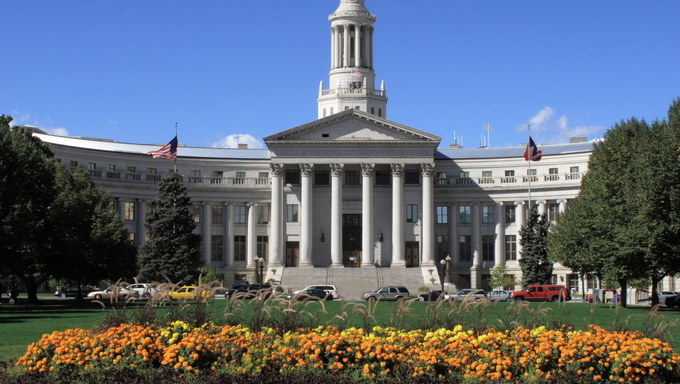 Denver Civic Center Park - City and County Building