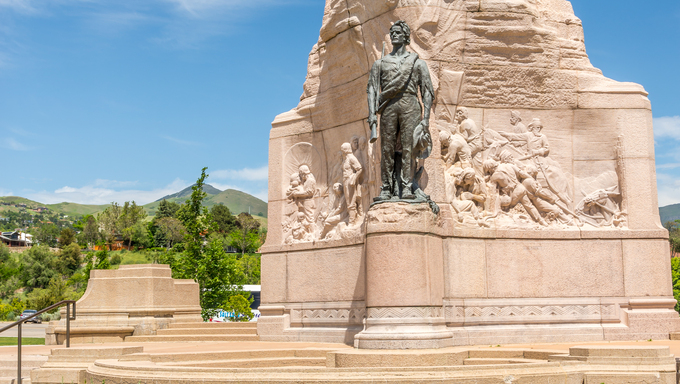 Memorial of Mormon Battalion in Salt Lake City - Utah