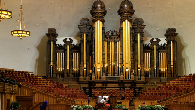 Tabernacle organ in Salt Lake City, Utah. It is one of the largest organs in the world.