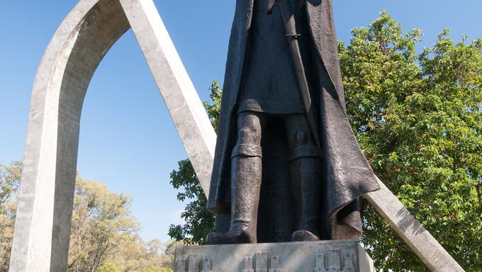 SAO PAULO, BRAZIL - June 19: The Monument Pedro Alvares Cabral on June 19, 2013, in São Paulo, Brazil. The Monument Pedro Alvares Cabral is a  sculpture bronze Luiz Morrone artist , located in São Paulo, Brazil.