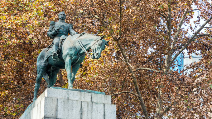 Monument to Manual Bulnes, former president of Chile in Santiago