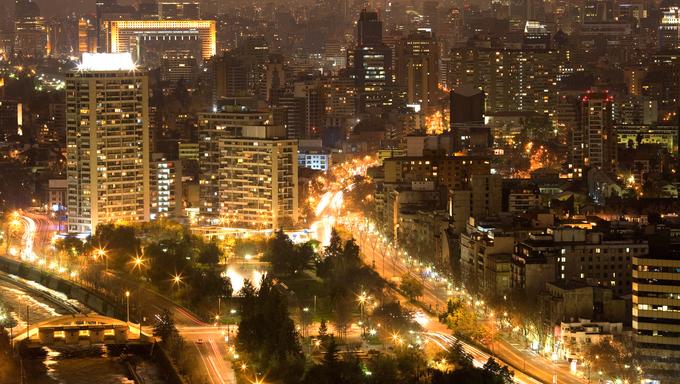 View of Santiago de Chile toward the east part of the city