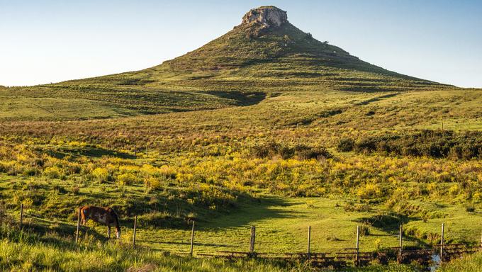 Idyllic landscape of Batovi Hill, Tacuarembo in north-central Uruguay