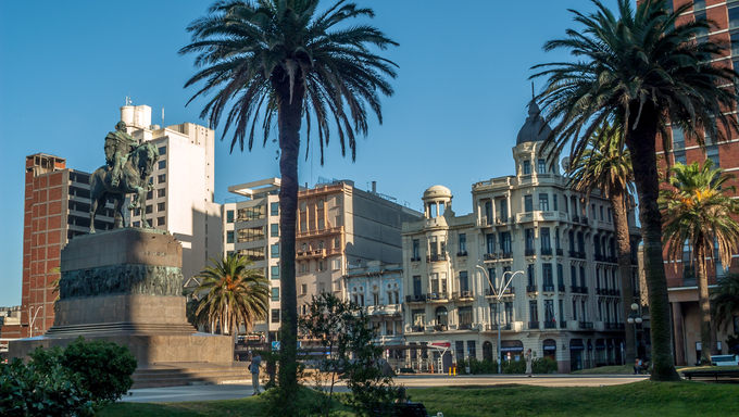 Independence Square in Montevideo, Uruguay