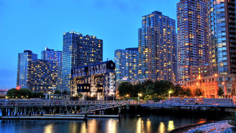 Skyline of Long Island, New York.