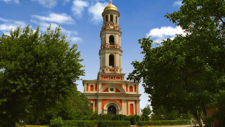 Monastery bell tower. Chitcani.  Transnistria. Moldova.
